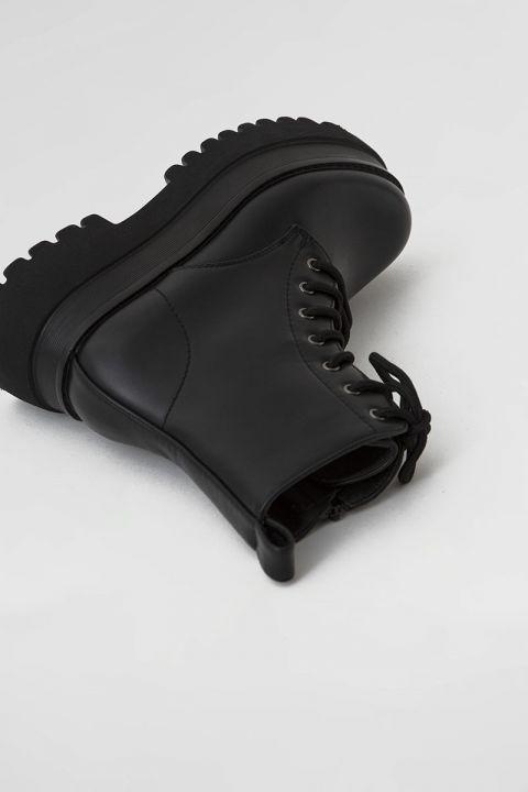 YY-6806 PLATFORM BOOT, BLACK