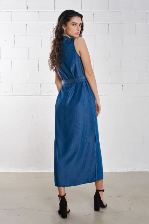 ACEL DRESS, DARK BLUE DENIM