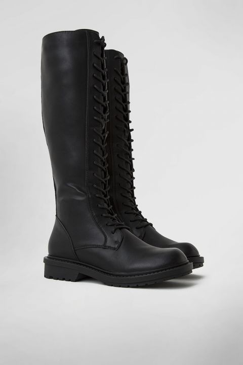 VB-38002 KNEE HIGH COMBAT BOOT, BLACK