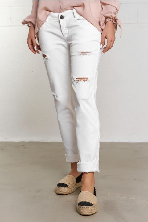 EDITA-AW PANTS, WHITE