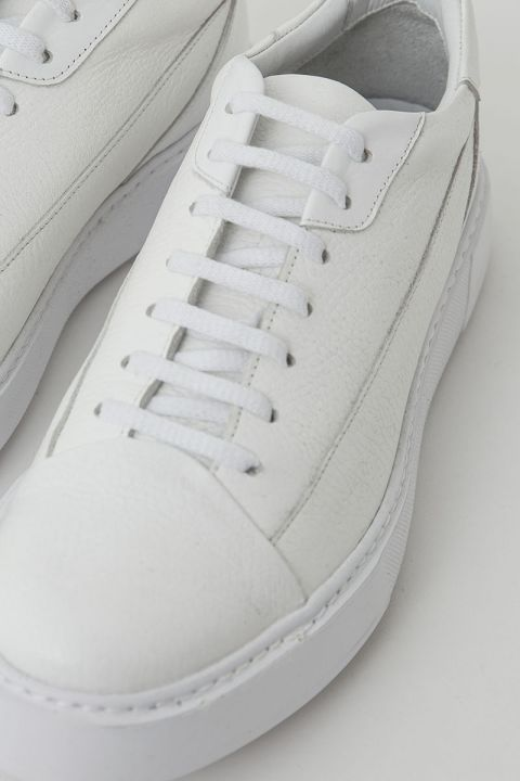 SANTONI LOW TOP SNEAKERS, WHITE