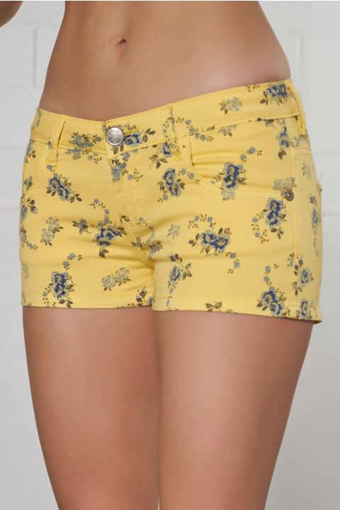 DONITA-8809 SHORTS, YELLOW