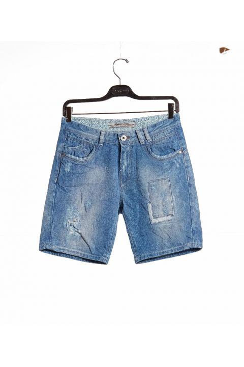 APRIL-111 DENIM SHORTS, BLUE