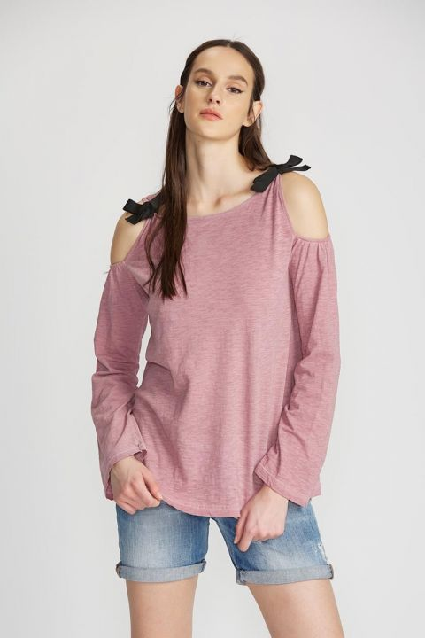 BENITHA TOP, WILD ROSE