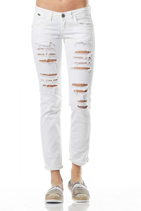 TERRY-CD JEANS, WHITE