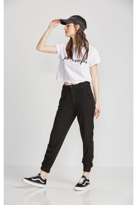 JUNA-VL PANTS, BLACK