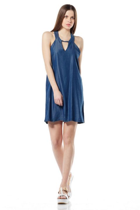 EMELINE-OR DENIM DRESS