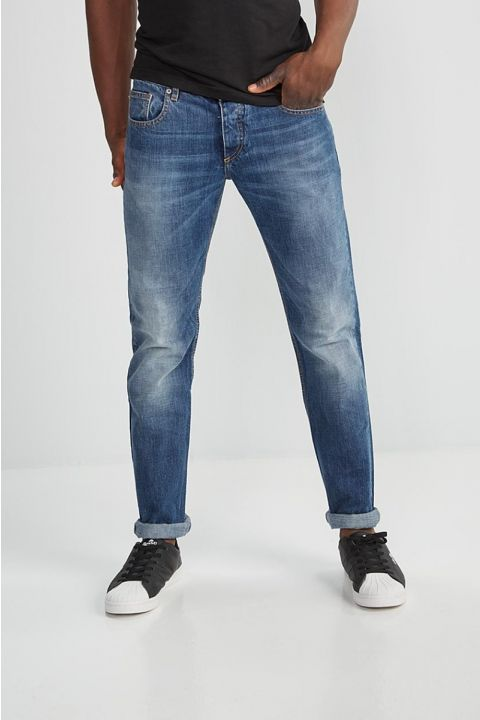 DU.VITO-S21 JEANS, MEDIUM BLUE DENIM