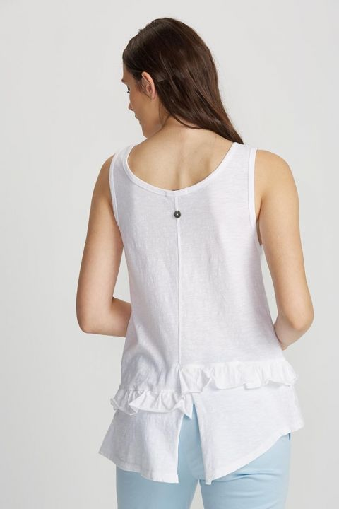 SUKI TOP, WHITE