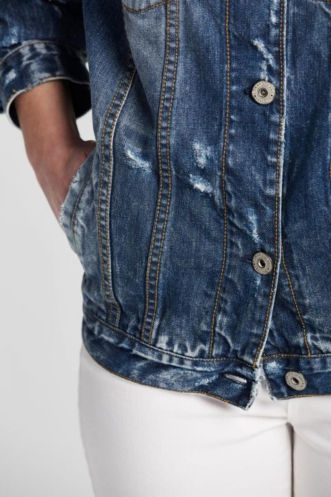 CERENITY-111 DENIM JACKET, BLUE