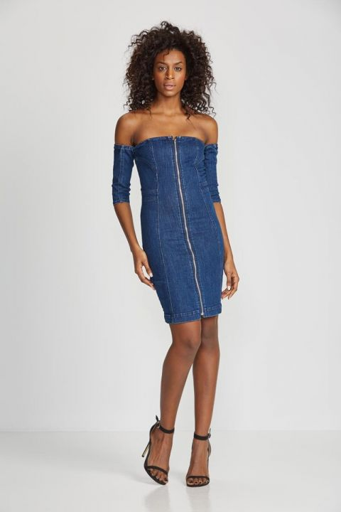 CHELSY-3052 DENIM DRESS