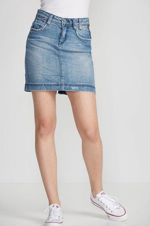 SLOANE-72 Denim Skirt, BLUE