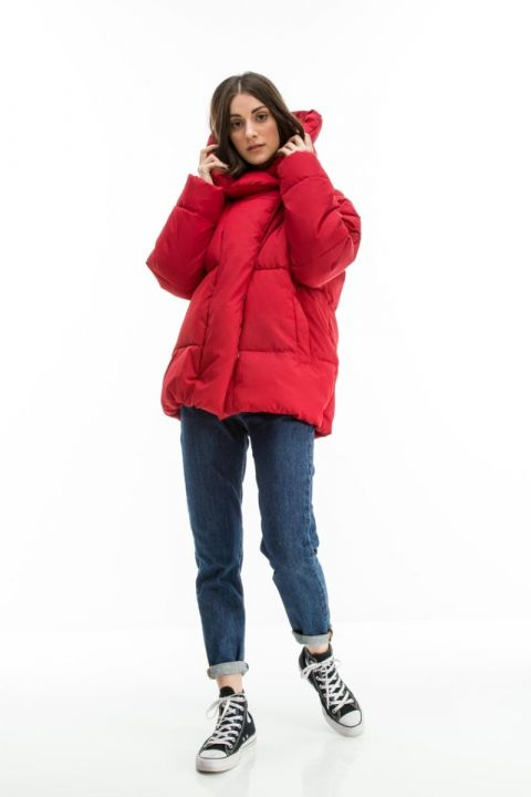 HIND OVERSIZED ΜΠΟΥΦΑΝ, RED