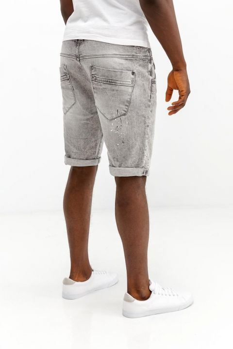 TORIAN-GREY DENIM SHORTS, BLUE