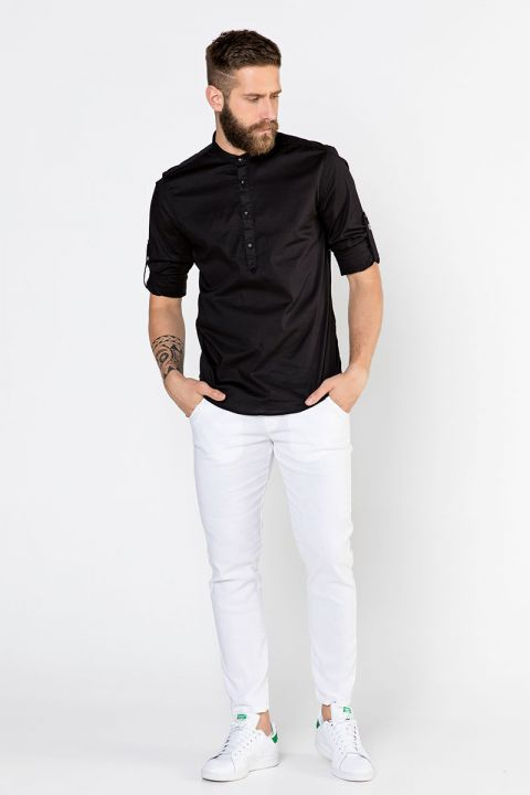 BARNY-50 SHIRT, BLACK