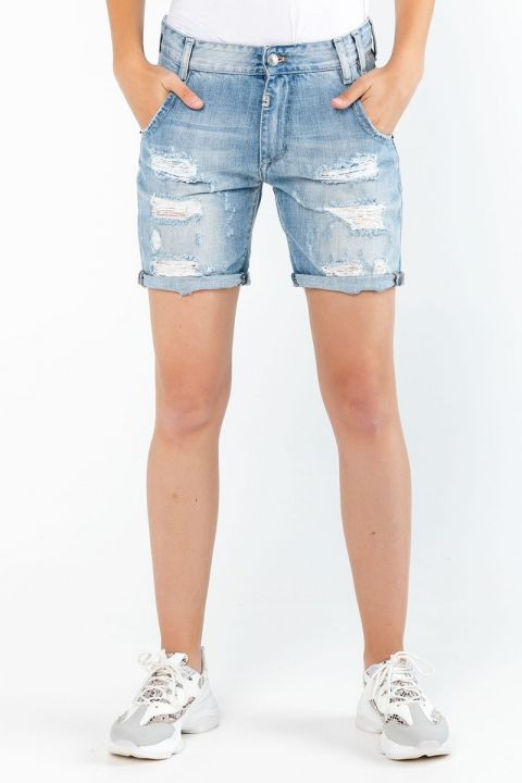 ADALINA-DS DENIM SHORTS