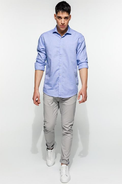 ARIONAS-560 SHIRT, FADED DENIM