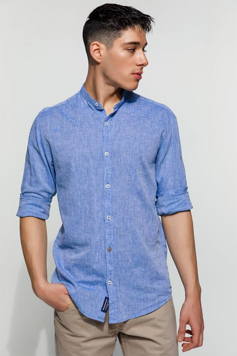 SYMON-111 SHIRT, FADED DENIM