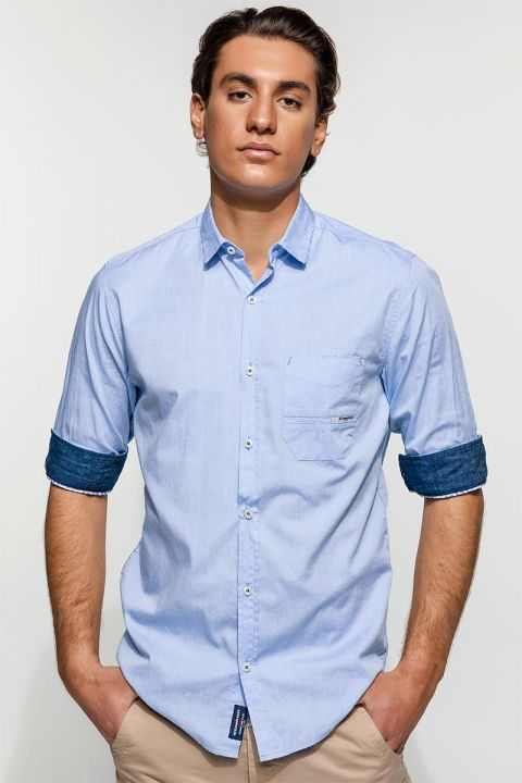 ANEMOS-CIN SHIRT, FADED DENIM