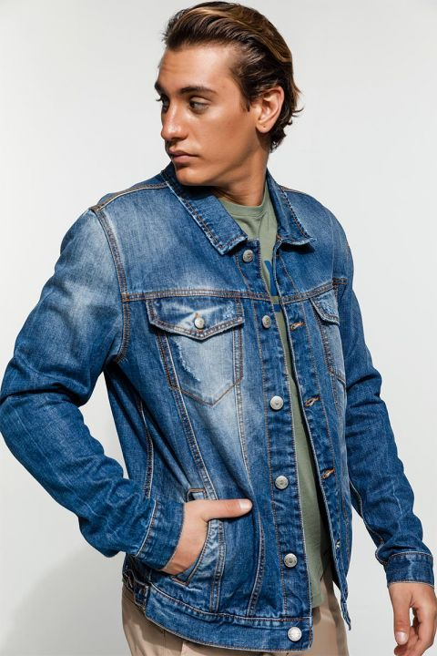 WICK-ROD DENIM JACKET, BLUE
