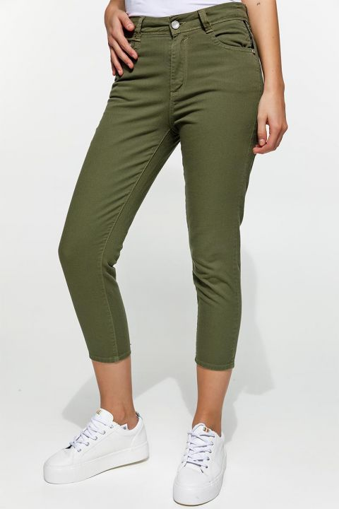 DORIE-RAM COLOURED JEANS, ARMY