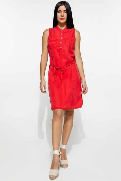 KIANA-OR DRESS, RED