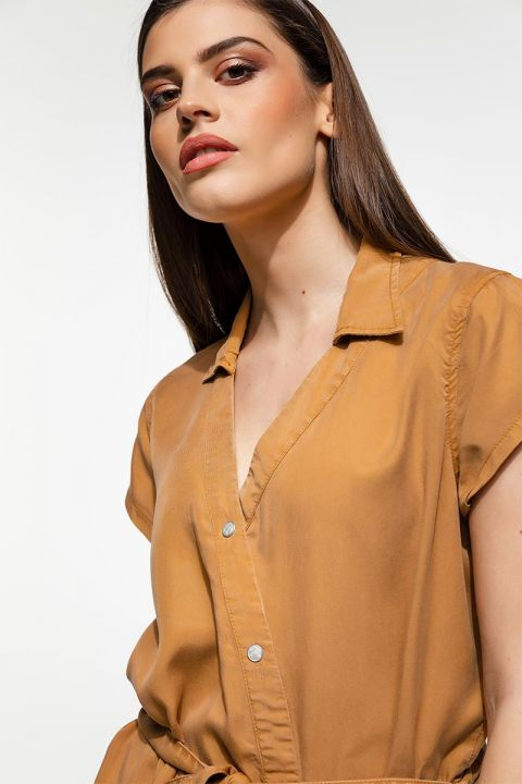 MIENA-OR DRESS, ALMOND