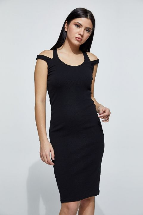 CARDALL-1815 DRESS, BLACK