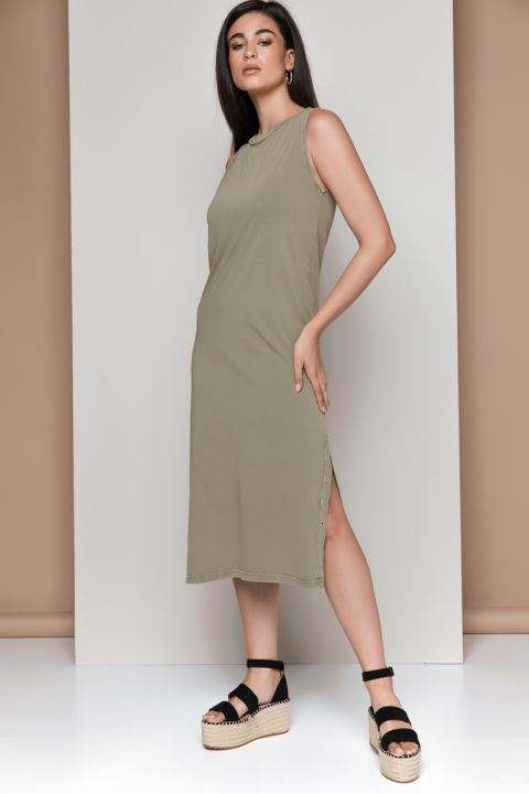 COLINA-J DRESS, ARMY