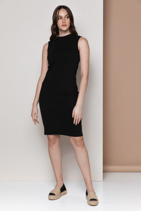 DIANE-1815 DRESS, BLACK