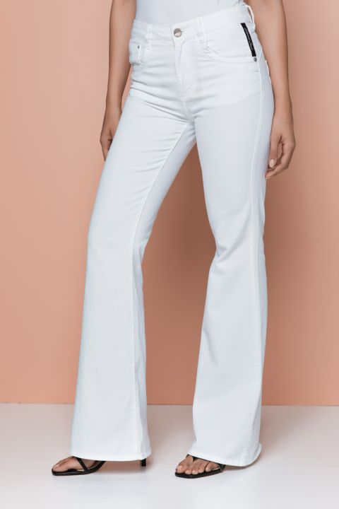 Plummer-Ram Coloured Jeans, WHITE