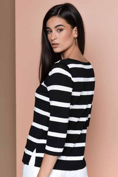S218 STRIPPED TOP, BLACK