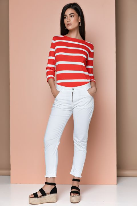 S218 STRIPPED TOP, RED