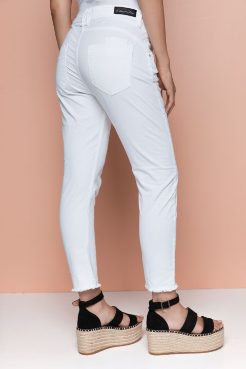LONDYN-PI PANTS, WHITE