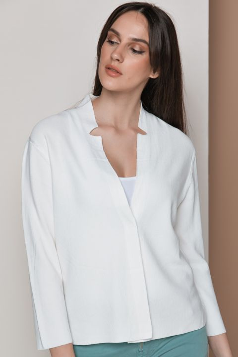 S111 CARDIGAN, OFF WHITE