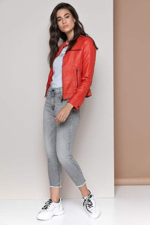 BN-20021 ECO LEATHER JACKET, RED