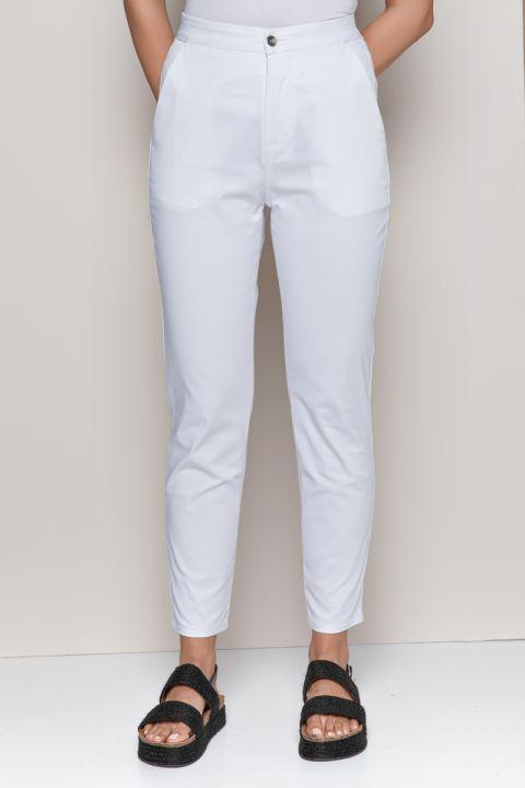 LAQUETA-KL PANTS, WHITE