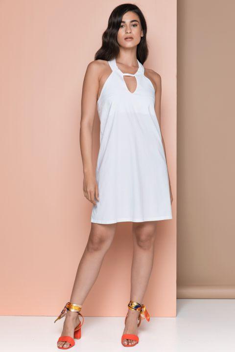 EMELINE-VR DRESS, WHITE