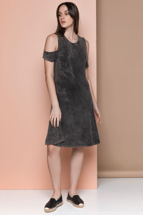 LELA DRESS, BLACK