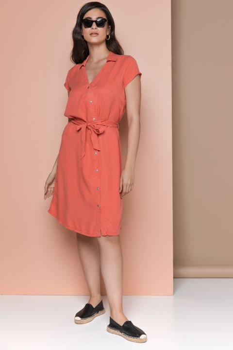MIENA-OR DRESS, RED