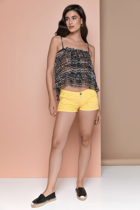 BERNICE-AR SHORTS, YELLOW