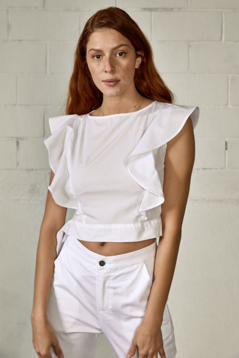Roselyn Top, WHITE