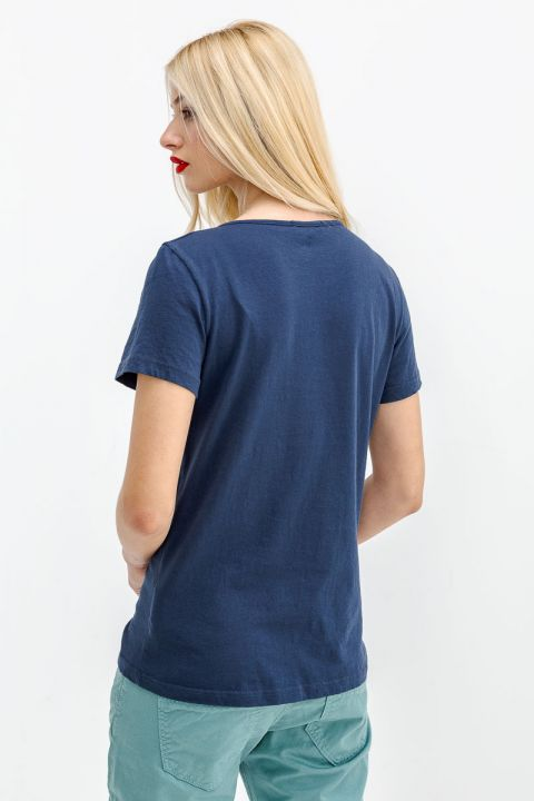 JEANNIE-W19 TOP, NAVY BLUE