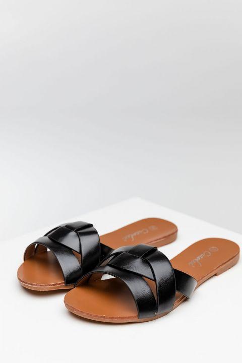 6366 SANDALS, BLACK