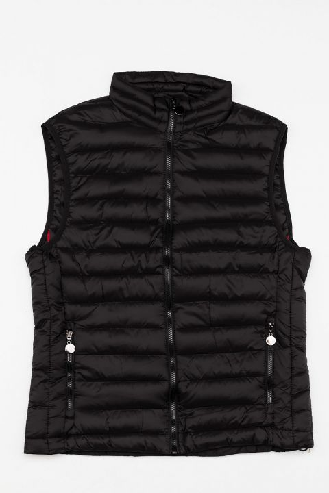 6866/FL19 MENS VEST, BLACK