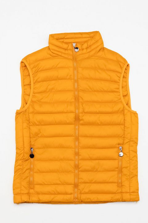 6866/FL19 MENS VEST, YELLOW