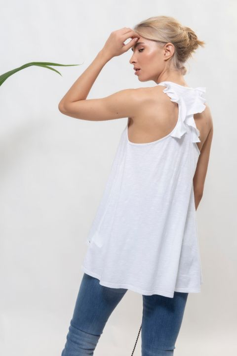 KALYCA TOP, WHITE