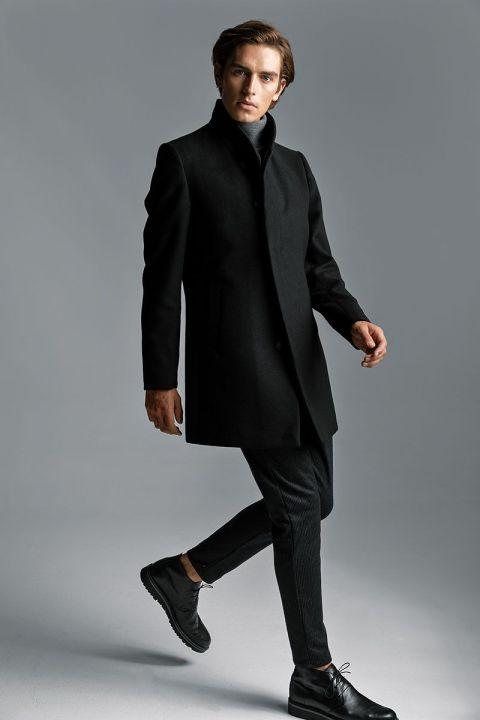 AQUILA COAT, BLACK