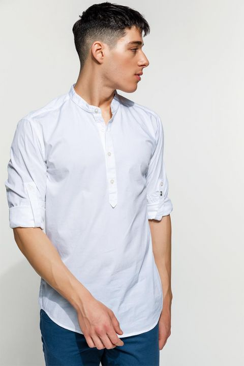 BARNY-50 SHIRT, WHITE