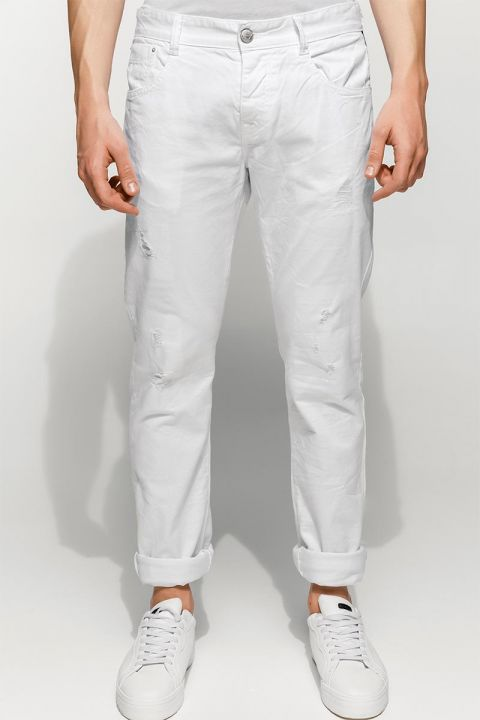 BRICEN-RAM PANTS, WHITE